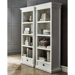 Halifax Painted Furniture Bookcase With 1 Drawer