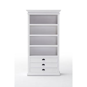 Halifax Painted Furniture Bookcase With 3 Drawers