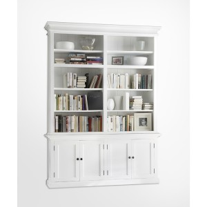 Halifax Painted Furniture Double Bay Hutch Bookcase