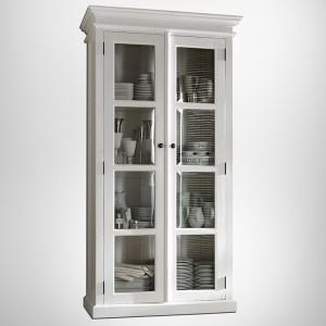 Halifax Painted Furniture Glazed Display Storage Cabinet
