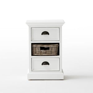 Halifax Painted Furniture Small Cabinet With Basket