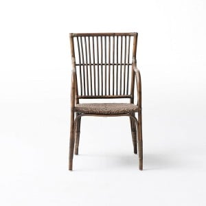 Nova Solo Wickerworks Duke Natural Black Wash Chair Pair