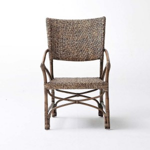 Nova Solo Wickerworks Jester Natural Black Wash Chair Pair