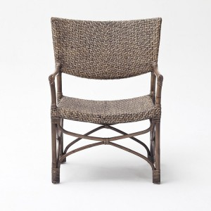 Nova Solo Wickerworks Squire Natural Black Wash Chair Pair