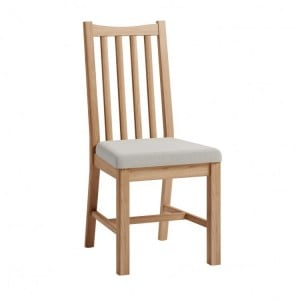 Exeter Light Oak Furniture Dining Chair (Pair)