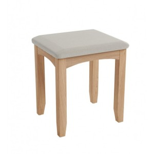 Exeter Light Oak Furniture Dressing Table Stool