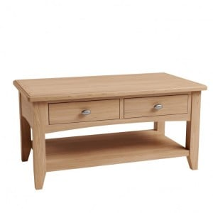 Exeter Light Oak Furniture Large Coffee Table