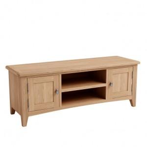 Exeter Light Oak Furniture Large TV Unit