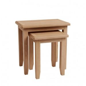 Exeter Light Oak Furniture Nest Of 2 Tables