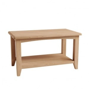 Exeter Light Oak Furniture Small Coffee Table