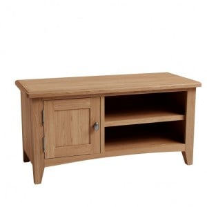 Exeter Light Oak Furniture Small TV Unit