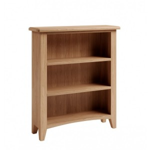 Exeter Light Oak Furniture Small Wide Bookcase