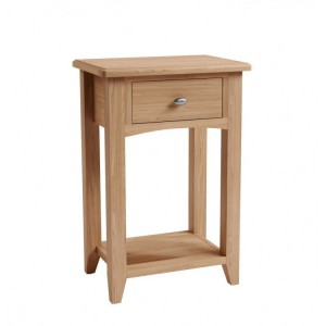 Exeter Light Oak Furniture Telephone Table