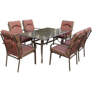Royalcraft Amalfi Stripe 6 Seater Rectangular Dining Set