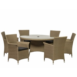 Royalcraft Bali 6 Seater Round Carver Dining Set