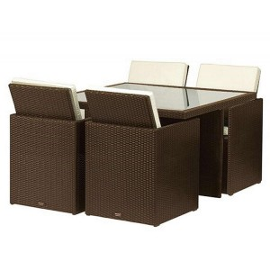 Royalcraft Cannes Mocha Brown 4 Seater Cube Set