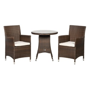 Royalcraft Cannes Mocha Brown 2 Seater Bistro Set