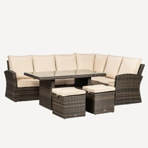 Royalcraft Dallas Brown 5 Piece Corner Dining Set
