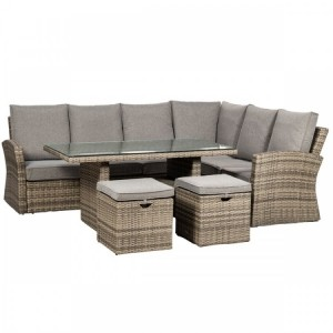Royalcraft Dallas Grey 5 Piece Corner Dining Set