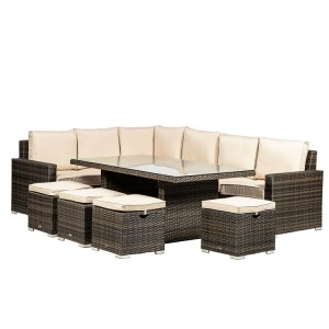 Royalcraft Dallas Brown 7 Piece Corner Dining Set