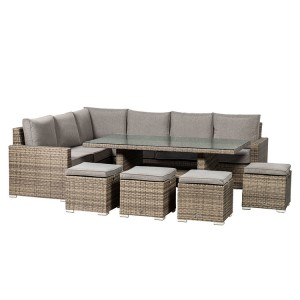 Royalcraft Dallas Grey 7 Piece Corner Dining Set