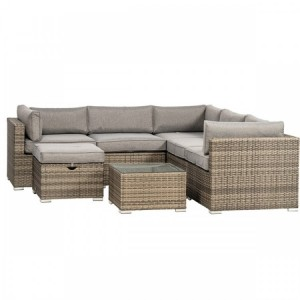 Royalcraft Dallas Grey Corner Lounge Set