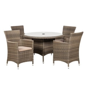 Royalcraft Madison 4 Seater Round Carver Dining Set