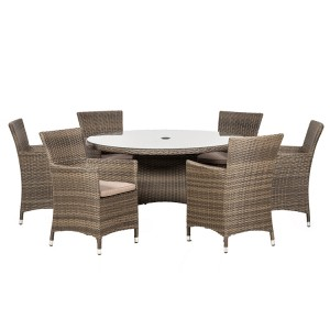 Royalcraft Madison 6 Seater Round Carver Dining Set