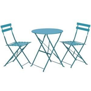 Royalcraft Padstow 2 Seater Folding Bistro Set - Blue