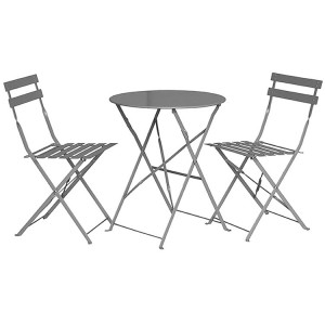 Royalcraft Padstow 2 Seater Folding Bistro Set - Grey Taupe