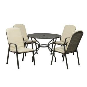 Royalcraft Palma 4 Seater Round Dining Set
