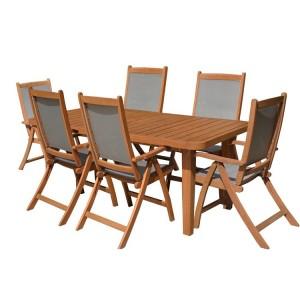 Royalcraft Broadway 6 Seater Rectangular Dining Set FSC® certified