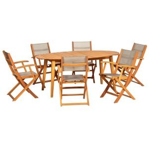Royalcraft Chelsea Ellipse 6 Seater Dining Set FSC® certified