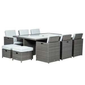 Royalcraft Marlow Deluxe 10 Seater Cube Set & Weather-Shield Cushions