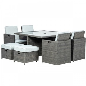 Royalcraft Marlow Deluxe 8 Seater Cube Set & Weather-Shield Cushions