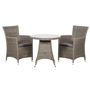 Royalcraft Paris 2 Seater Bistro Set & Weather-Shield Cushions