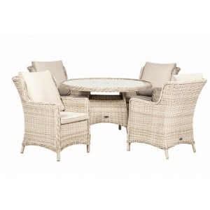 Royalcraft Seychelles 4 Seater Round Comfort Dining Set