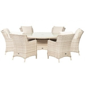 Royalcraft Seychelles 6 Seater Round Comfort Dining Set