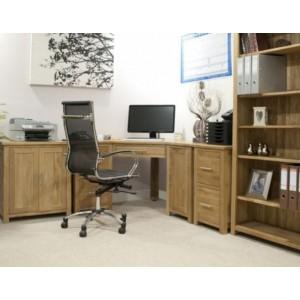 Opus Solid Oak Corner Office Desk Package