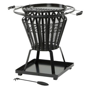 Lifestyle Appliances Signa Fire Basket With BBQ Grill