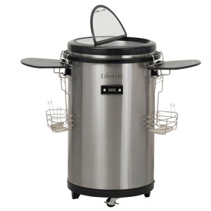Lifestyle Appliances Outdoor Stainless Steel Electric Party Cooler 50 Litre