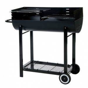 Lifestyle Appliances 1/2 Barrel With Wind Shield Charcoal BBQ