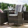 Maze Rattan Garden Furniture LA Grey Weatherproof PU Rattan 6 Seat Round Ice Bucket Table Set