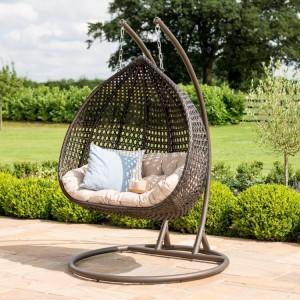 Maze Rattan Garden Furniture Rose Brown Outdoor Hanging Chair