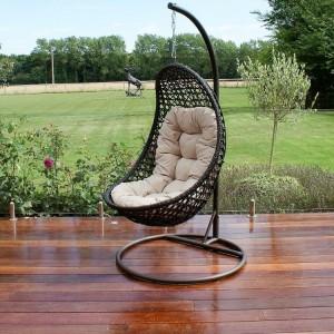 Maze Rattan Garden Furniture Malibu Brown Hanging Chair