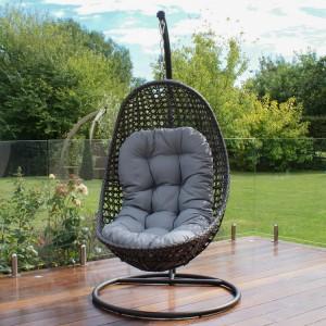 Maze Rattan Garden Furniture Malibu Grey Hanging Chair