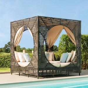 Maze Rattan Garden Furniture Bali Furniture Brown Daybed