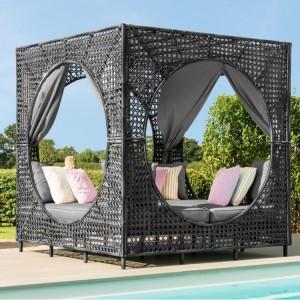 Maze Rattan Garden Furniture Bali Grey Daybed