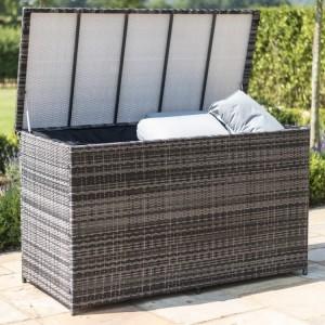 Maze Rattan Garden Furniture Grey Large Storage Box
