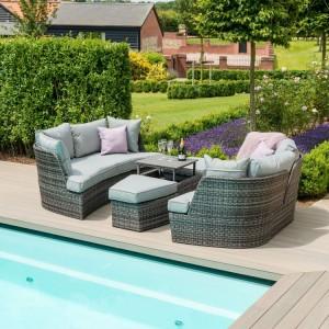 Maze Rattan Garden Furniture Cheltenham Grey Daybed